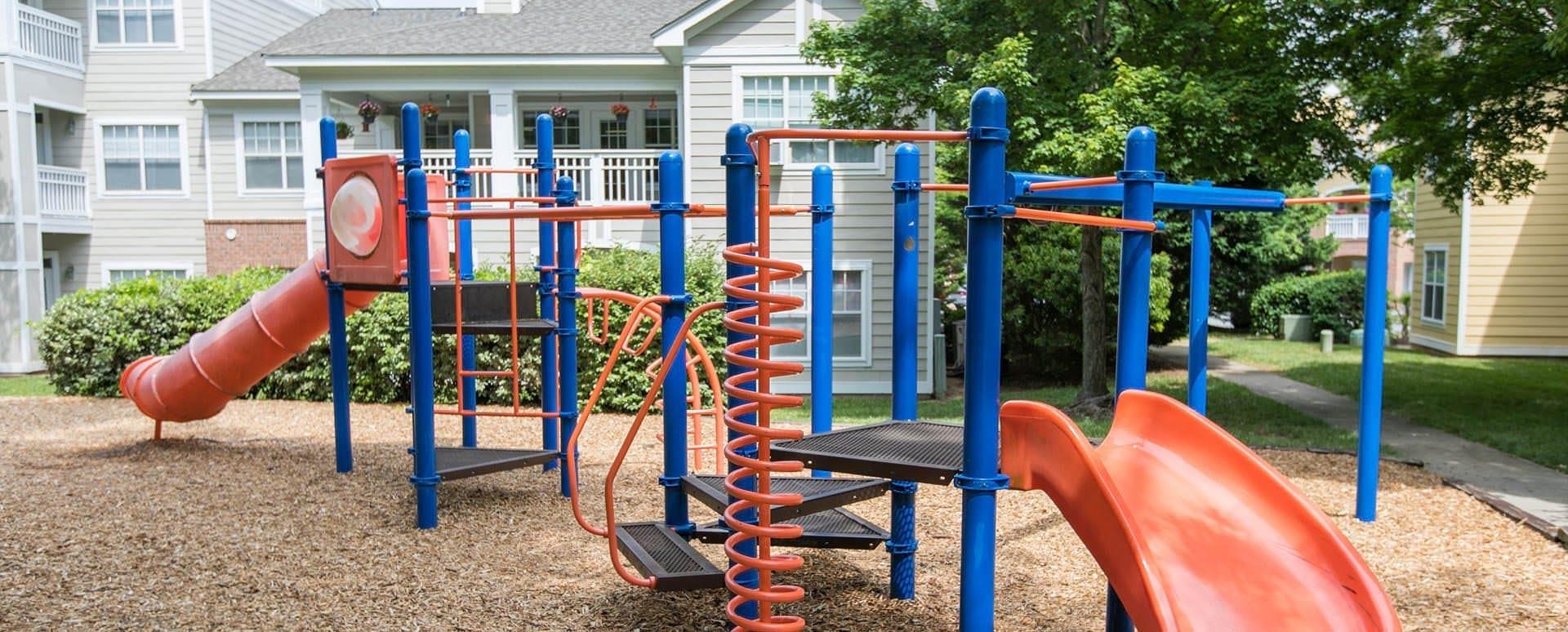 children's playground with jungle gym equipment