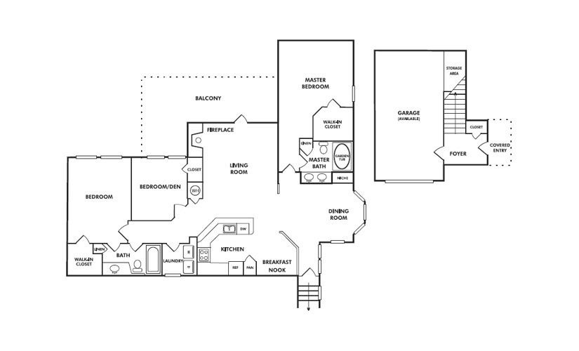 River Birch 3 bedroom 2 bath 1375 square feet