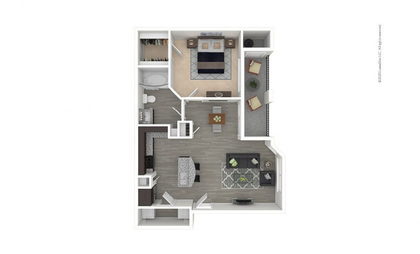 A1 - Louetta 1 bedroom 1 bath 700 square feet
