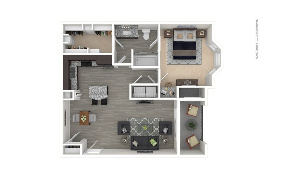 A3 - Champions 1 bedroom 1 bath 800 square feet