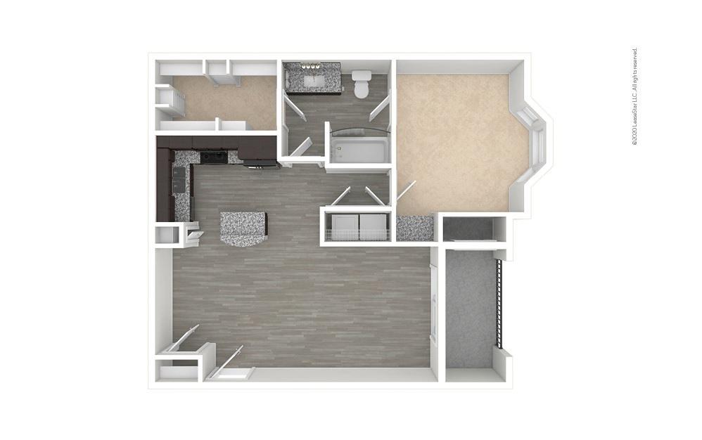 A3 - Champions 1 bedroom 1 bath 800 square feet (1)