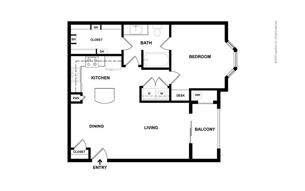 A3 - Champions 1 bedroom 1 bath 800 square feet (2)