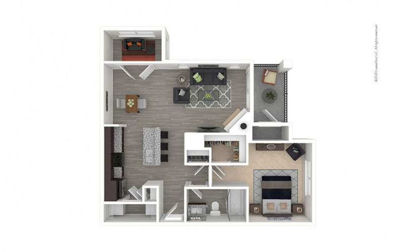 A4 - Longwood 1 bedroom 1 bath 802 square feet