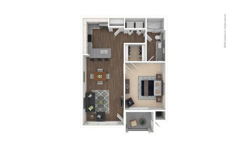 A2 - Wimbledon 1 bedroom 1 bath 708 square feet