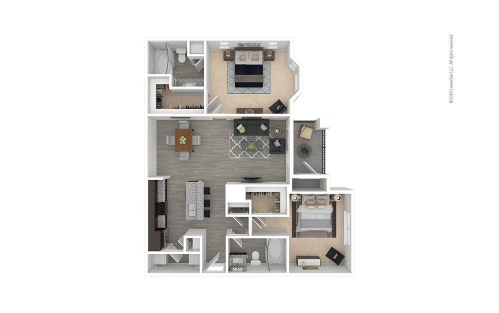 B2 - Kohrville 2 bedroom 2 bath 1065 square feet