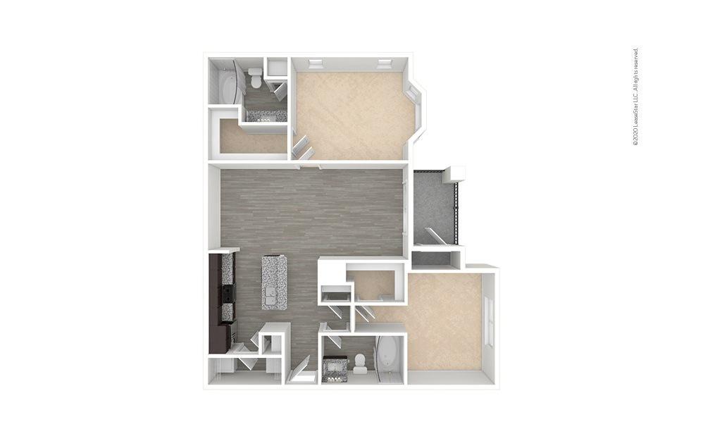 B2 - Kohrville 2 bedroom 2 bath 1065 square feet (1)