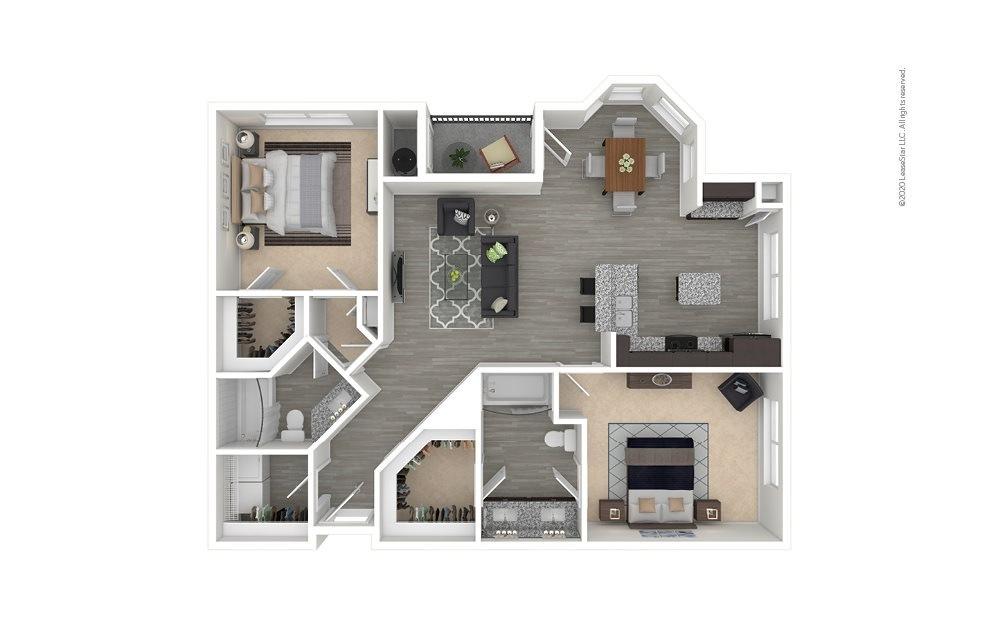 B4 - Lakewood 2 bedroom 2 bath 1196 square feet