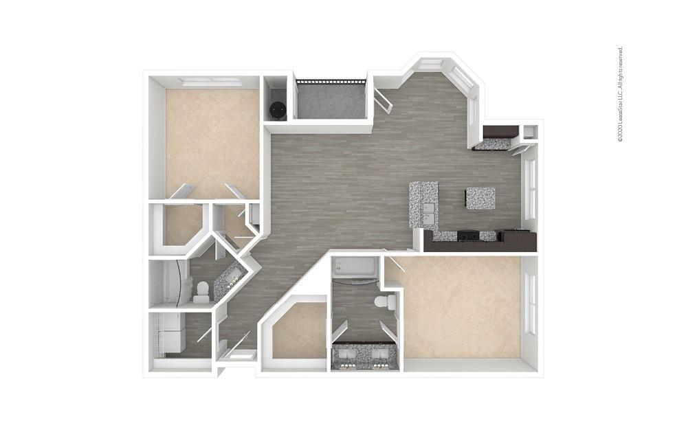 B4 - Lakewood 2 bedroom 2 bath 1196 square feet (1)
