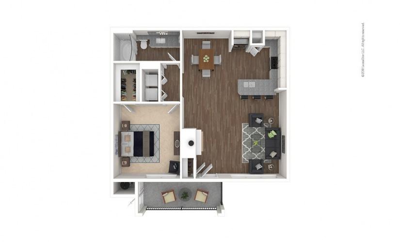 A5 - Glennloch 1 bedroom 1 bath 810 square feet