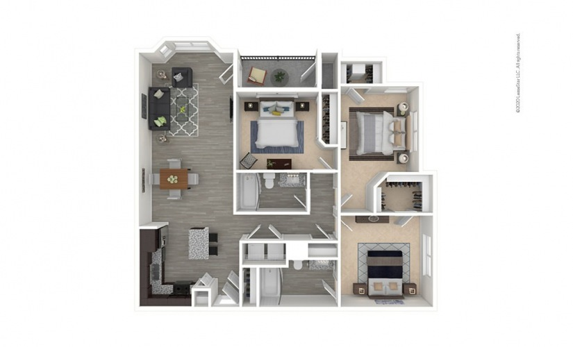 C2 - Prestonwood 3 bedroom 2 bath 1361 square feet