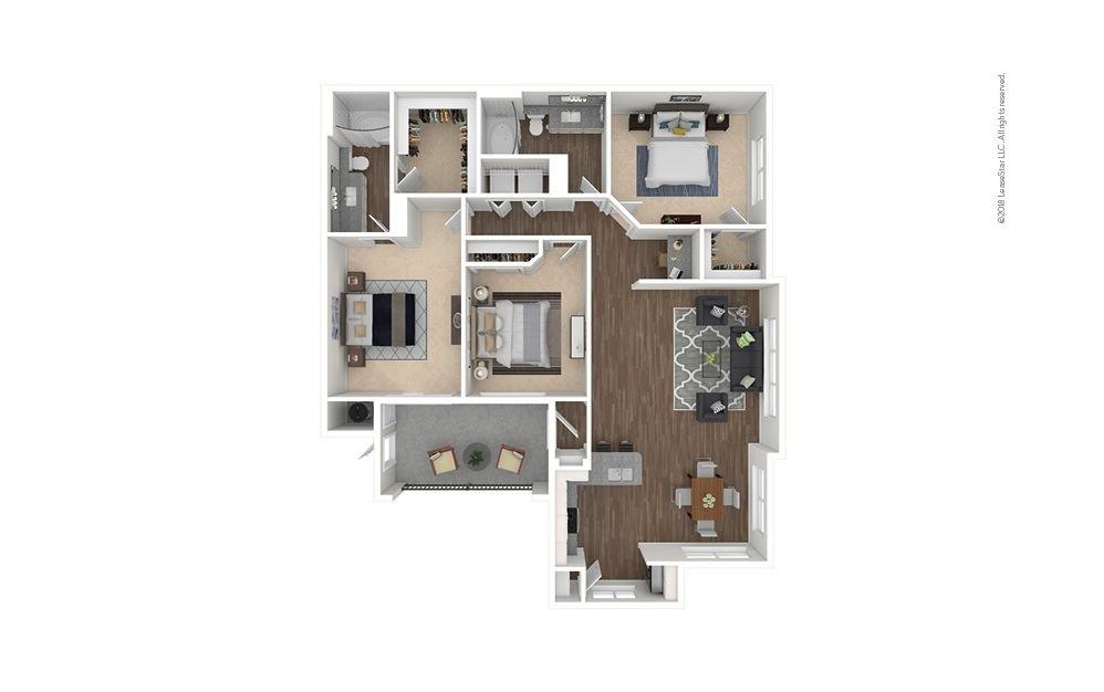 C1 - Tomball 3 bedroom 2 bath 1360 square feet