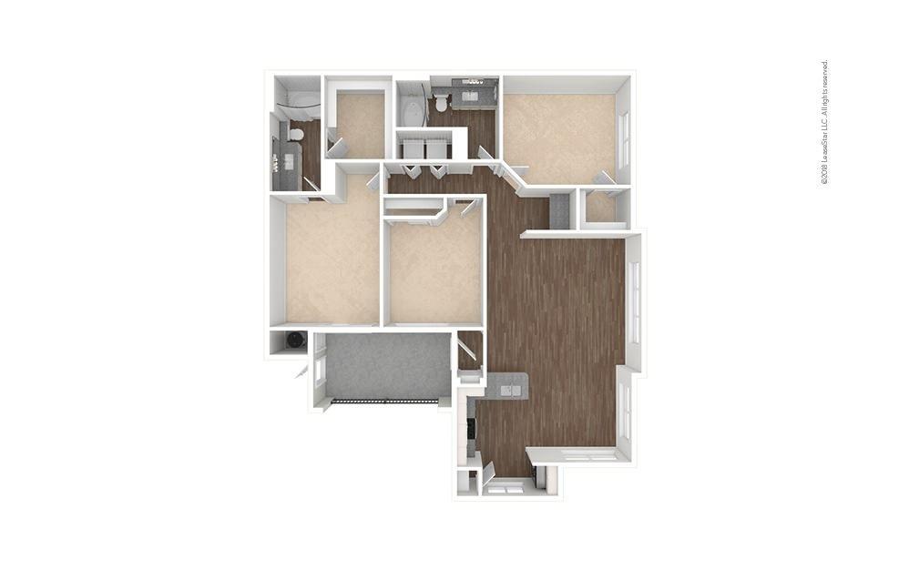C1 - Tomball 3 bedroom 2 bath 1360 square feet (1)