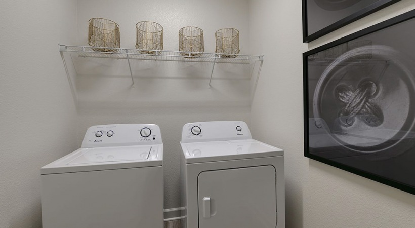 Full-size washer and dryer sets in each apartment home