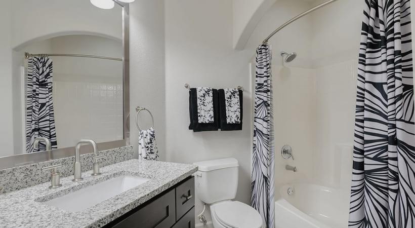 Photo of bathroom showing deep-soaking, garden-style bathtubs