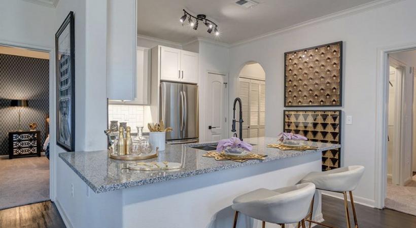 Custom Cabinetry with Designer Hardware and Tile Backsplashes