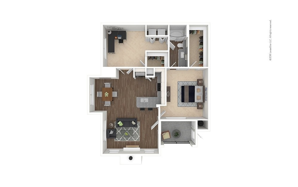 B1 - Steubner 2 bedroom 1 bath 1005 square feet
