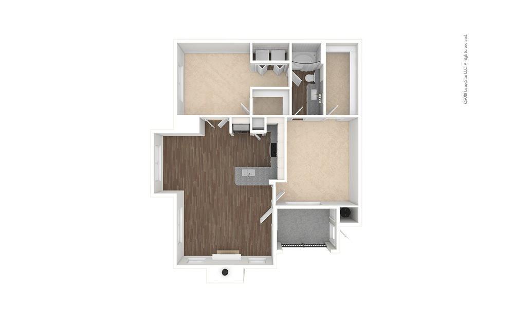 B1 - Steubner 2 bedroom 1 bath 1005 square feet (1)