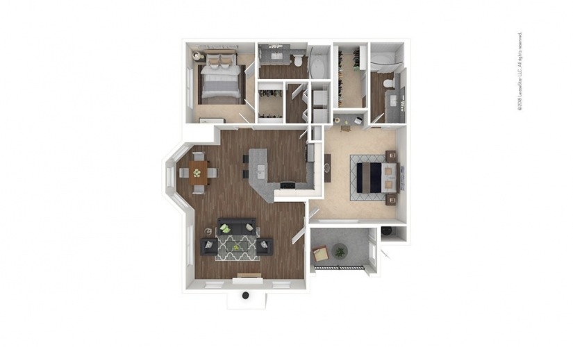 B3 - Vintage Park 2 bedroom 2 bath 1161 square feet