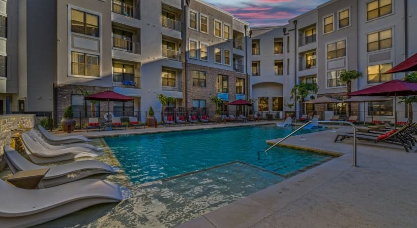 Frisco apartment pool with sun deck