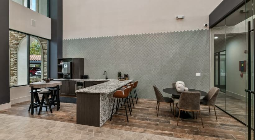 Our upscale Irving apartment clubhouse