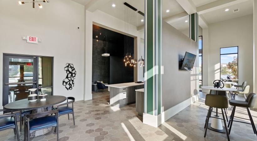 Lounge areas at our Little Elm apartment clubhouse