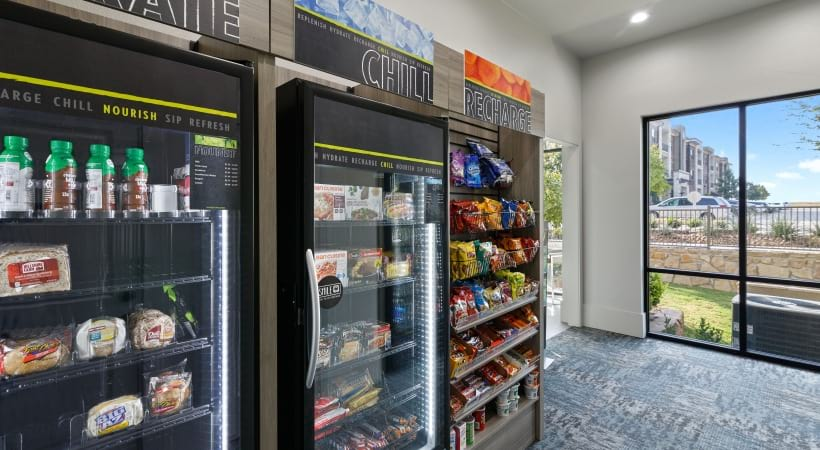 24/7 canteen at our luxury apartments in Little Elm, TX