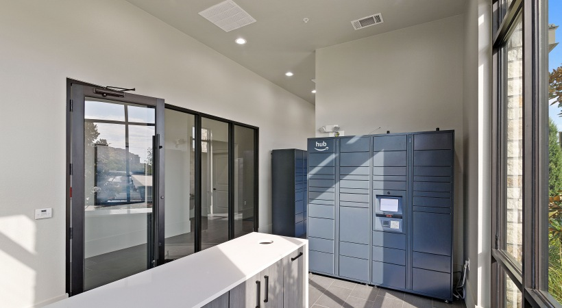 Mail room of our Little Elm apartment community