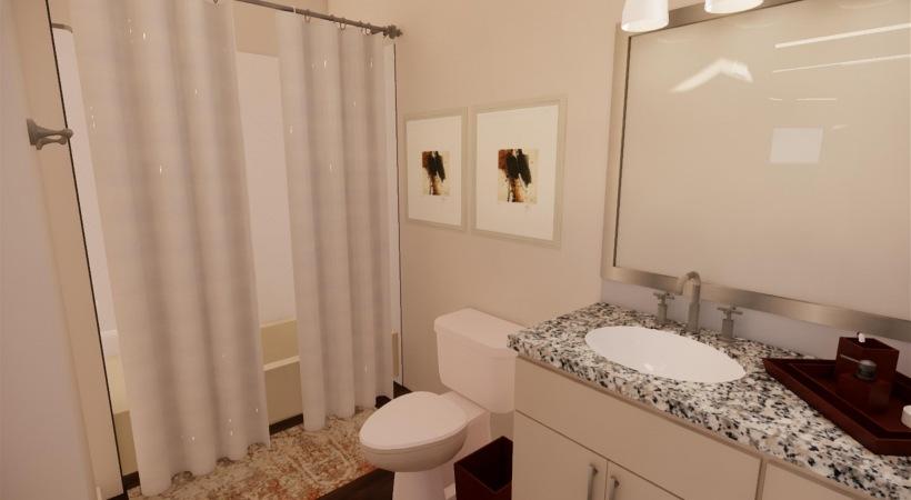 Bathroom of Renovated Floor Plan
