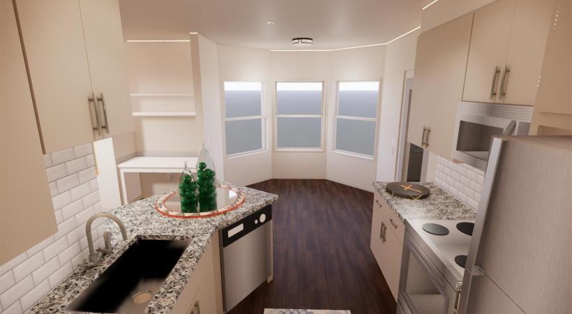 Kitchen of Renovated Floor Plan