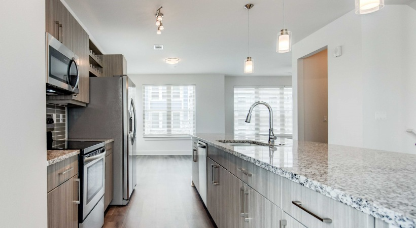 Spacious kitchen at our Flatiron apartments in Broomfield, CO
