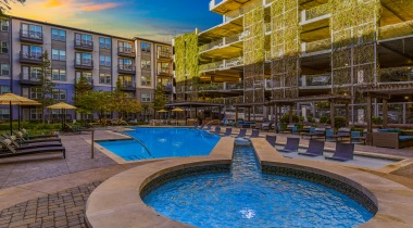 Resort style pool at apartments near Dallas
