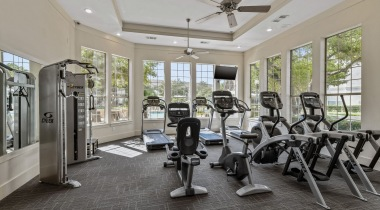 Fitness center at apartments for rent The Colony, TX