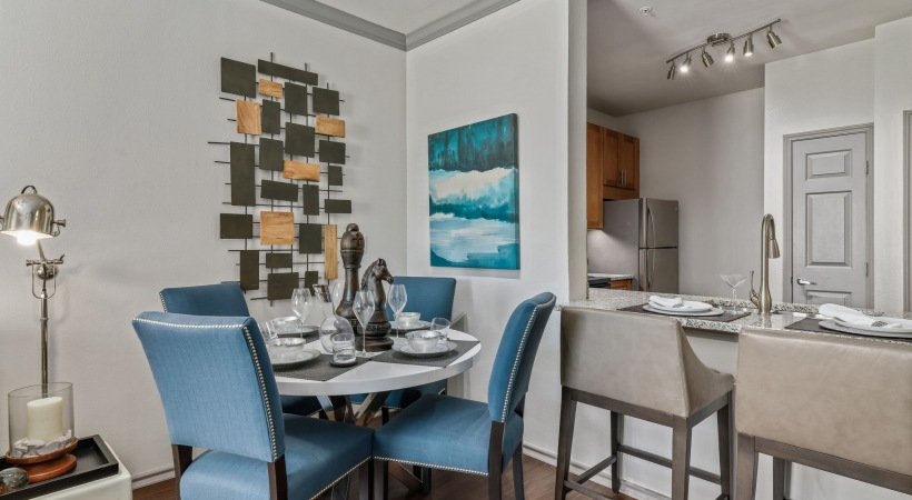Dining area at apartments by Cortland
