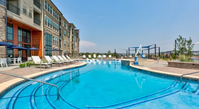 Our Interlocken apartment pool and spa