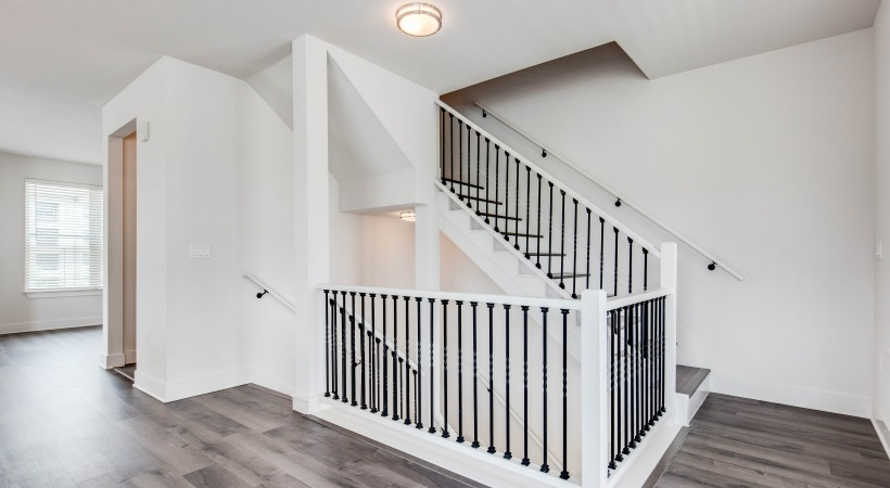 Stairways at our townhomes for rent in Broomfield, CO