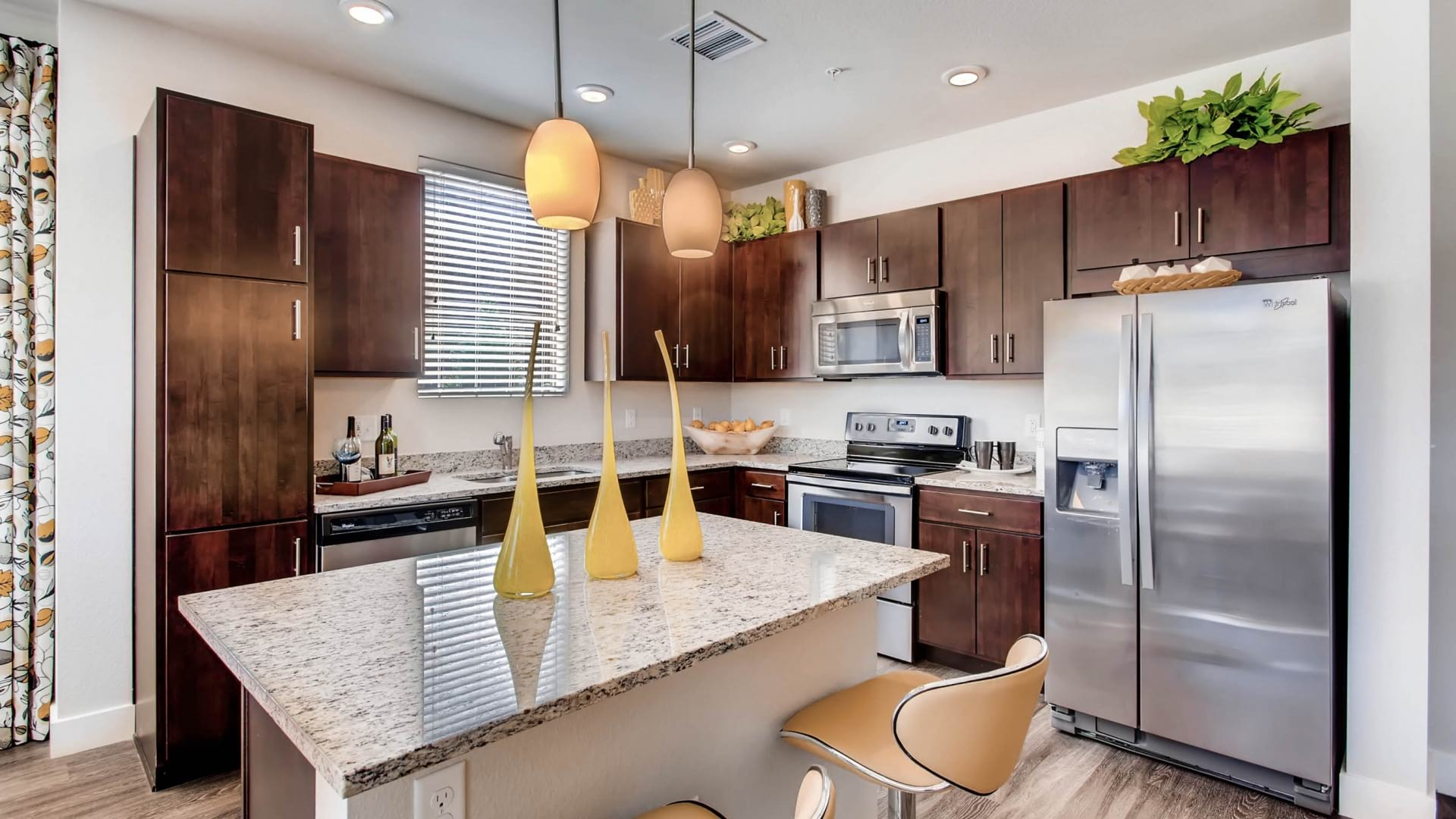 Modern Kitchen with Granite Countertops at our Apartments For Rent in Johnstown, CO