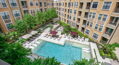 Frisco apartment complex with pool