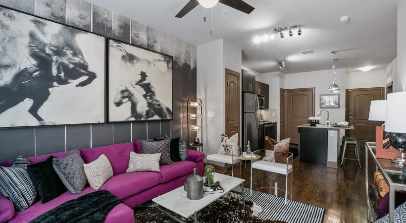 Spacious apartment floor plan at Cortland Legacy