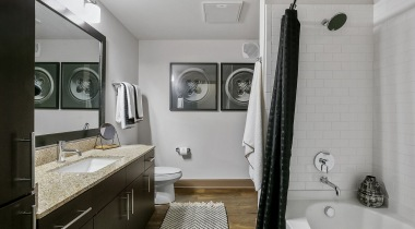 Spacious bathroom with bathtub at Cortland Legacy