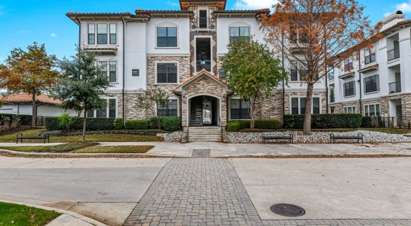 Street view of our luxury apartments for rent in Irving, TX