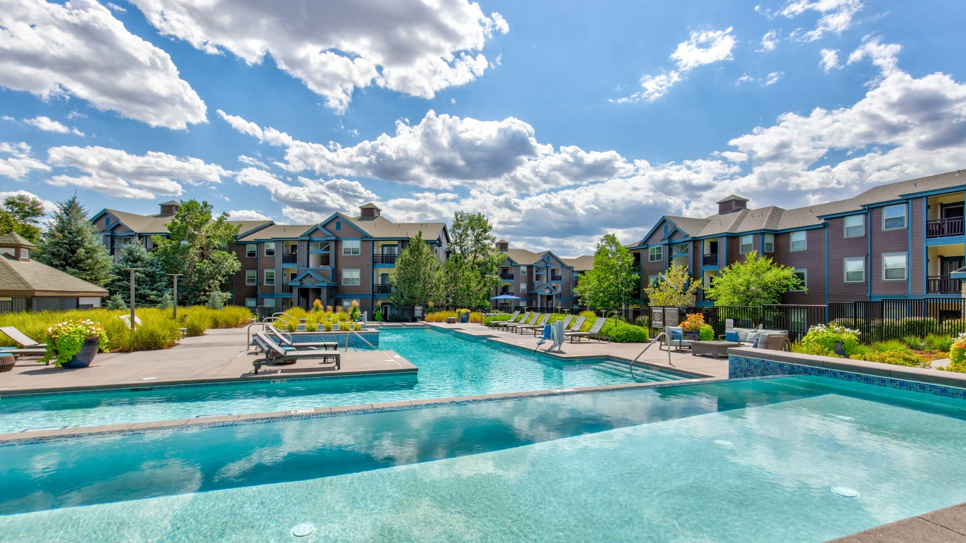 Resort-Style Pool at Our  Luxury Apartments in Colorado Springs