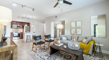 Spacious Apartment Living Area at Cortland Boca Raton