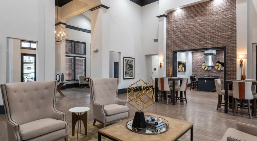 Apartment leasing office at Cortland Bryan Place in Deep Ellum