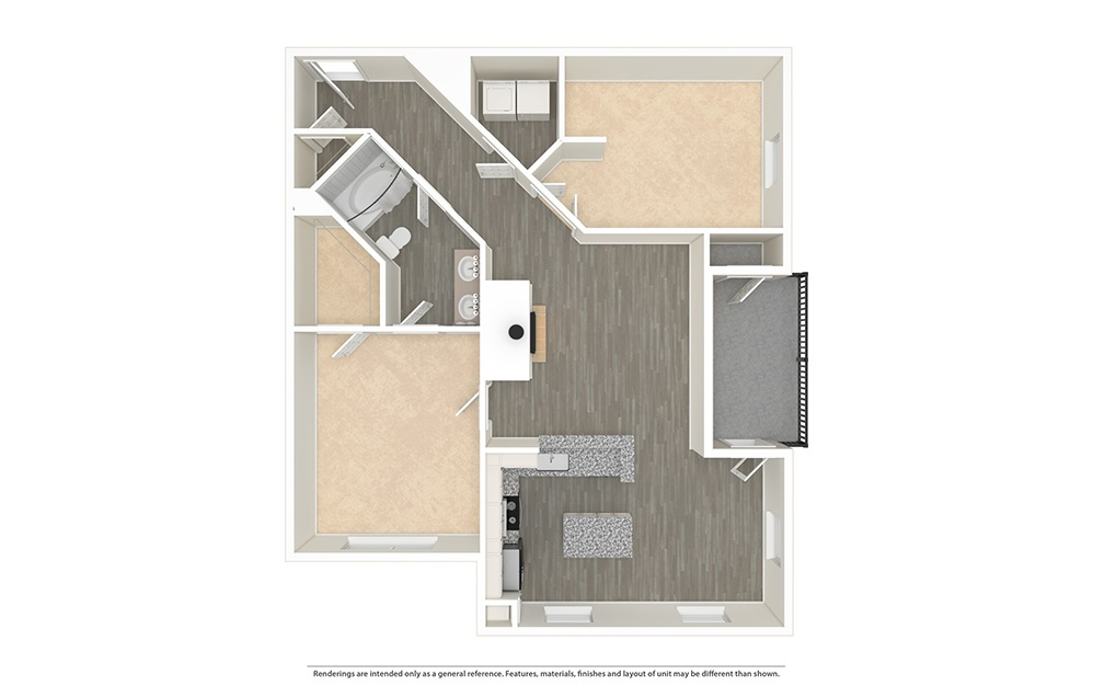 The Klyde Unfurnished Rendering | Bryan Place
