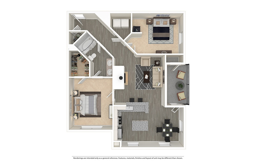 The Klyde Furnished Rendering | Bryan Place