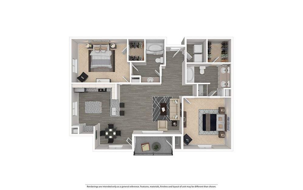 The Pearl Furnished Rendering | Bryan Place