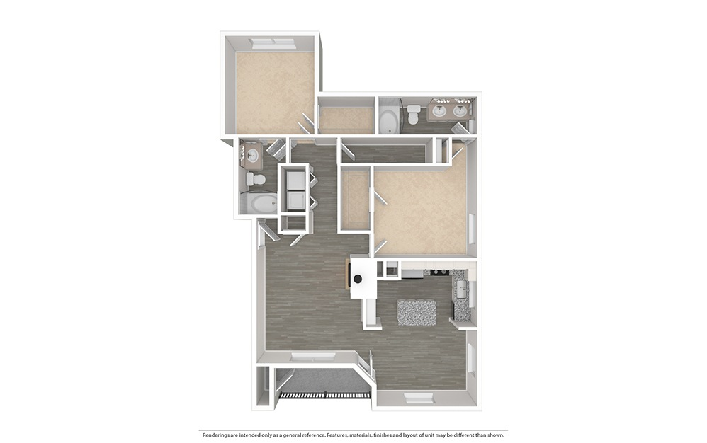 The Live Oak Unfurnished Rendering   Bryan Place