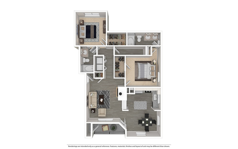 The Live Oak Furnished Rendering   Bryan Place