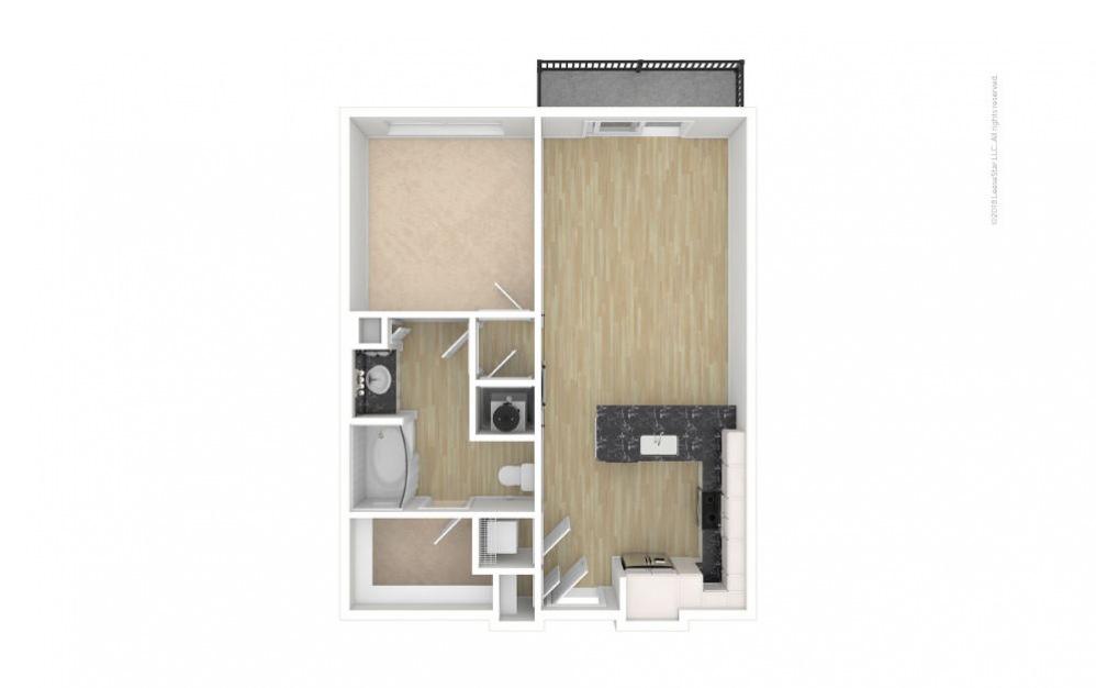 Cedar 1 bedroom 1 bath 724 square feet (1)