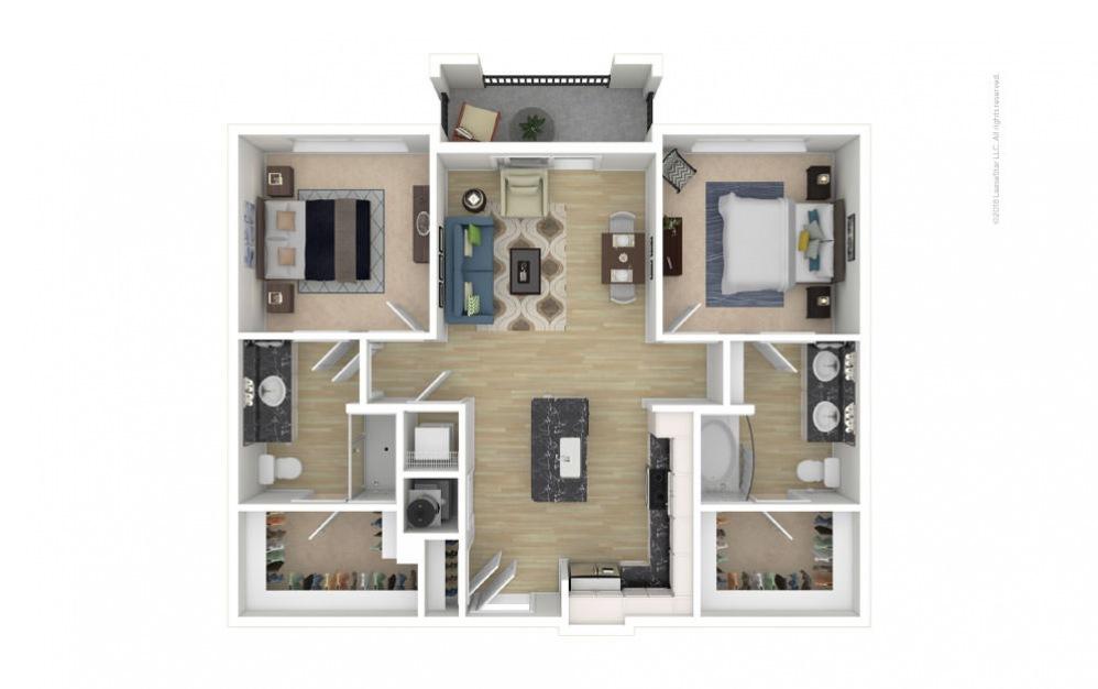 Highland 2 bedroom 2 bath 1022 square feet